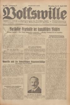 Volkswille : Zentralorgan der Deutschen Sozialistischen Arbeitspartei Polens. Jg.13, Nr. 95 (24 April 1928) + dod.