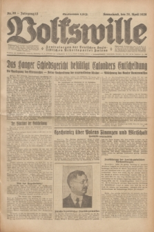 Volkswille : Zentralorgan der Deutschen Sozialistischen Arbeitspartei Polens. Jg.13, Nr. 99 (28 April 1928) + dod.