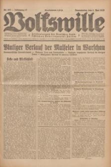 Volkswille : Zentralorgan der Deutschen Sozialistischen Arbeitspartei Polens. Jg.13, Nr. 102 (3 Mai 1928) + dod.