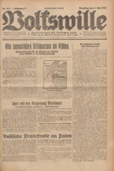 Volkswille : Zentralorgan der Deutschen Sozialistischen Arbeitspartei Polens. Jg.13, Nr. 105 (8 Mai 1928) + dod.