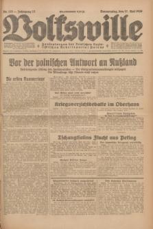 Volkswille : Zentralorgan der Deutschen Sozialistischen Arbeitspartei Polens. Jg.13, Nr. 113 (17 Mai 1928) + dod.
