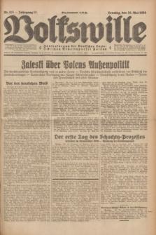 Volkswille : Zentralorgan der Deutschen Sozialistischen Arbeitspartei Polens. Jg.13, Nr. 115 (20 Mai 1928) + dod.