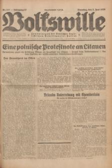 Volkswille : Zentralorgan der Deutschen Sozialistischen Arbeitspartei Polens. Jg.13, Nr. 127 (5 Juni 1928) + dod.