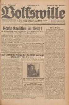 Volkswille : Zentralorgan der Deutschen Sozialistischen Arbeitspartei Polens. Jg.13, Nr. 130 (9 Juni 1928) + dod.