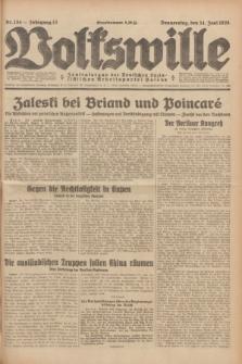 Volkswille : Zentralorgan der Deutschen Sozialistischen Arbeitspartei Polens. Jg.13, Nr. 134 (14 Juni 1928) + dod.