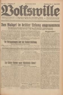 Volkswille : Zentralorgan der Deutschen Sozialistischen Arbeitspartei Polens. Jg.13, Nr. 137 (17 Juni 1928) + dod.