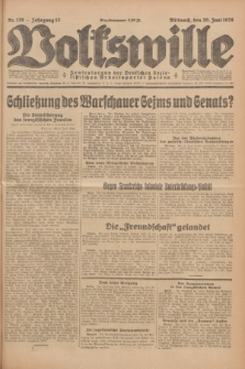 Volkswille : Zentralorgan der Deutschen Sozialistischen Arbeitspartei Polens. Jg.13, Nr. 139 (20 Juni 1928) + dod.
