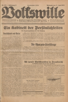 Volkswille : Zentralorgan der Deutschen Sozialistischen Arbeitspartei Polens. Jg.13, Nr. 145 (27 Juni 1928) + dod.