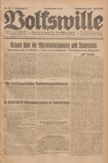 Volkswille : Zentralorgan der Deutschen Sozialistischen Arbeitspartei Polens. Jg.13, Nr. 153 (7 Juli 1928) + dod.