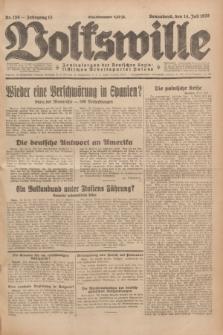 Volkswille : Zentralorgan der Deutschen Sozialistischen Arbeitspartei Polens. Jg.13, Nr. 159 (14 Juli 1928) + dod.