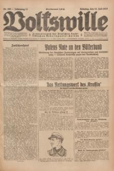 Volkswille : Zentralorgan der Deutschen Sozialistischen Arbeitspartei Polens. Jg.13, Nr. 160 (15 Juli 1928) + dod.
