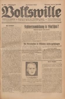 Volkswille : Zentralorgan der Deutschen Sozialistischen Arbeitspartei Polens. Jg.13, Nr. 167 (24 Juli 1928) + dod.