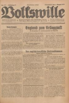 Volkswille : Zentralorgan der Deutschen Sozialistischen Arbeitspartei Polens. Jg.13, Nr. 177 (4 August 1928) + dod.