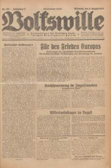 Volkswille : Zentralorgan der Deutschen Sozialistischen Arbeitspartei Polens. Jg.13, Nr. 180 (8 August 1928) + dod.
