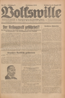 Volkswille : Zentralorgan der Deutschen Sozialistischen Arbeitspartei Polens. Jg.13, Nr. 182 (10 August 1928) + dod.