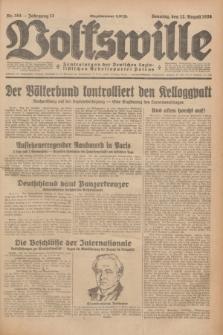 Volkswille : Zentralorgan der Deutschen Sozialistischen Arbeitspartei Polens. Jg.13, Nr. 184 (12 August 1928) + dod.