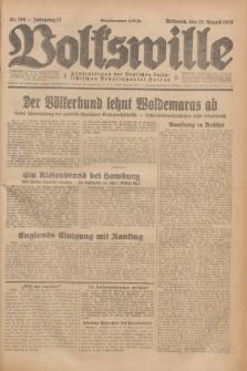Volkswille : Zentralorgan der Deutschen Sozialistischen Arbeitspartei Polens. Jg.13, Nr. 186 (15 August 1928) + dod.