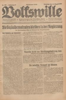 Volkswille : Zentralorgan der Deutschen Sozialistischen Arbeitspartei Polens. Jg.13, Nr. 190 (21 August 1928) + dod.