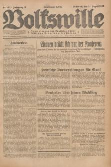 Volkswille : Zentralorgan der Deutschen Sozialistischen Arbeitspartei Polens. Jg.13, Nr. 191 (22 August 1928) + dod.