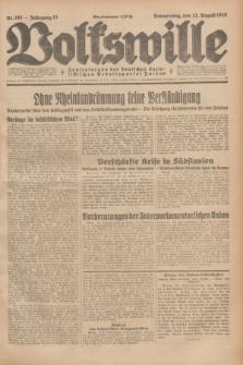 Volkswille : Zentralorgan der Deutschen Sozialistischen Arbeitspartei Polens. Jg.13, Nr. 192 (23 August 1928) + dod.