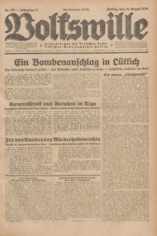 Volkswille : Zentralorgan der Deutschen Sozialistischen Arbeitspartei Polens. Jg.13, Nr. 193 (24 August 1928) + dod.
