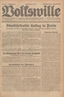 Volkswille : Zentralorgan der Deutschen Sozialistischen Arbeitspartei Polens. Jg.13, Nr. 195 (26 August 1928) + dod.