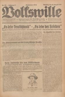 Volkswille : Zentralorgan der Deutschen Sozialistischen Arbeitspartei Polens. Jg.13, Nr. 196 (28 August 1928) + dod.
