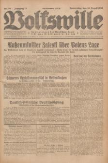Volkswille : Zentralorgan der Deutschen Sozialistischen Arbeitspartei Polens. Jg.13, Nr. 198 (30 August 1928) + dod.