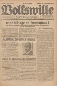 Volkswille : Zentralorgan der Deutschen Sozialistischen Arbeitspartei Polens. Jg.13, Nr. 201 (2 September 1928) + dod.