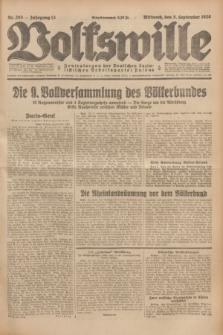 Volkswille : Zentralorgan der Deutschen Sozialistischen Arbeitspartei Polens. Jg.13, Nr. 203 (5 September 1928) + dod.