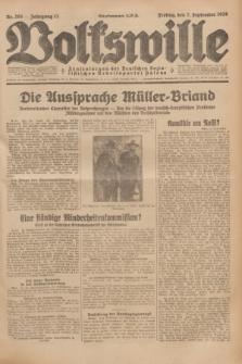 Volkswille : Zentralorgan der Deutschen Sozialistischen Arbeitspartei Polens. Jg.13, Nr. 205 (7 September 1928) + dod.