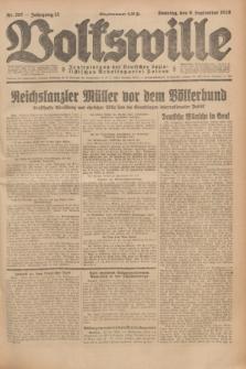 Volkswille : Zentralorgan der Deutschen Sozialistischen Arbeitspartei Polens. Jg.13, Nr. 207 (9 September 1928) + dod.
