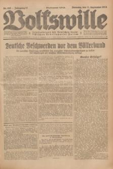 Volkswille : Zentralorgan der Deutschen Sozialistischen Arbeitspartei Polens. Jg.13, Nr. 208 (11 September 1928) + dod.