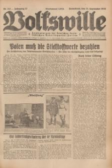 Volkswille : Zentralorgan der Deutschen Sozialistischen Arbeitspartei Polens. Jg.13, Nr. 212 (15 September 1928) + dod.