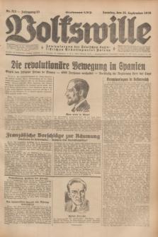 Volkswille : Zentralorgan der Deutschen Sozialistischen Arbeitspartei Polens. Jg.13, Nr. 213 (16 September 1928) + dod.