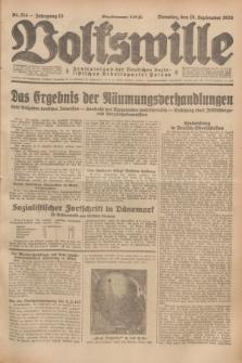 Volkswille : Zentralorgan der Deutschen Sozialistischen Arbeitspartei Polens. Jg.13, Nr. 214 (18 September 1928) + dod.