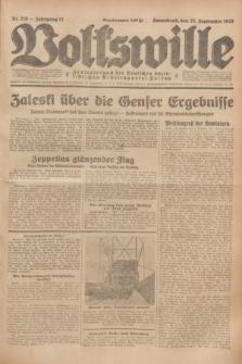 Volkswille : Zentralorgan der Deutschen Sozialistischen Arbeitspartei Polens. Jg.13, Nr. 218 (22 September 1928) + dod.