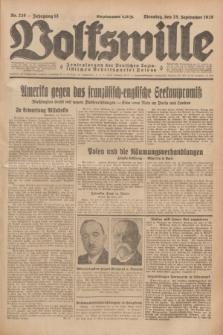 Volkswille : Zentralorgan der Deutschen Sozialistischen Arbeitspartei Polens. Jg.13, Nr. 220 (25 September 1928) + dod.