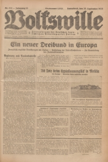 Volkswille : Zentralorgan der Deutschen Sozialistischen Arbeitspartei Polens. Jg.13, Nr. 224 (29 September 1928) + dod.