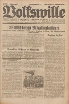 Volkswille : Zentralorgan der Deutschen Sozialistischen Arbeitspartei Polens. Jg.13, Nr. 225 (30 September 1928) + dod.