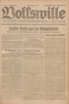 Volkswille : Zentralorgan der Deutschen Sozialistischen Arbeitspartei Polens. Jg.13, Nr. 234 (11 Oktober 1928) + dod.
