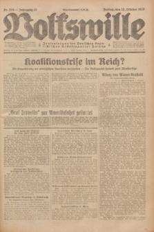 Volkswille : Zentralorgan der Deutschen Sozialistischen Arbeitspartei Polens. Jg.13, Nr. 235 (12 Oktober 1928) + dod.