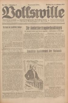 Volkswille : Zentralorgan der Deutschen Sozialistischen Arbeitspartei Polens. Jg.13, Nr. 241 (19 Oktober 1928) + dod.