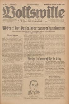 Volkswille : Zentralorgan der Deutschen Sozialistischen Arbeitspartei Polens. Jg.13, Nr. 242 (20 Oktober 1928) + dod.