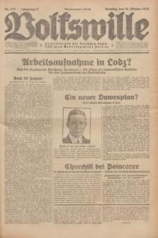 Volkswille : Zentralorgan der Deutschen Sozialistischen Arbeitspartei Polens. Jg.13, Nr. 243 (21 Oktober 1928) + dod.