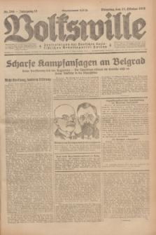Volkswille : Zentralorgan der Deutschen Sozialistischen Arbeitspartei Polens. Jg.13, Nr. 244 (23 Oktober 1928) + dod.