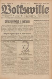 Volkswille : Zentralorgan der Deutschen Sozialistischen Arbeitspartei Polens. Jg.13, Nr. 245 (24 Oktober 1928) + dod.