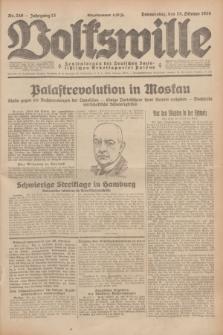Volkswille : Zentralorgan der Deutschen Sozialistischen Arbeitspartei Polens. Jg.13, Nr. 246 (25 Oktober 1928) + dod.