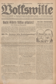 Volkswille : Zentralorgan der Deutschen Sozialistischen Arbeitspartei Polens. Jg.13, Nr. 247 (26 Oktober 1928) + dod.