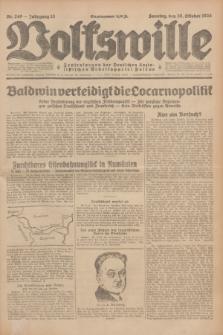 Volkswille : Zentralorgan der Deutschen Sozialistischen Arbeitspartei Polens. Jg.13, Nr. 249 (28 Oktober 1928) + dod.